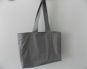 Bag fabric coated Japanese pattern