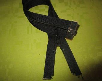 separable black nylon zip