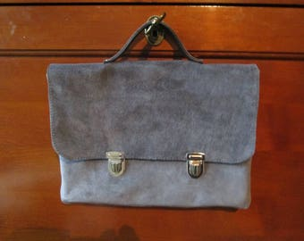 leather dark for Tablet Grey Velvet pouch
