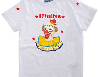T-shirt boy Clown personalized with name