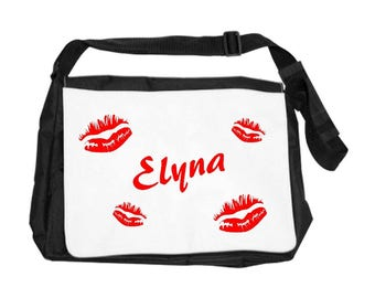 Kisses bag personalized with name