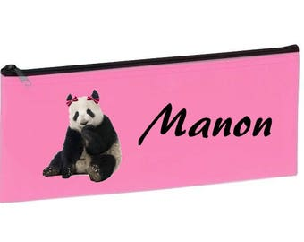Personalized with name pink Panda School Kit