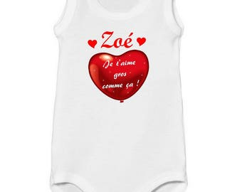 Tank onesie I love this big personalized with name