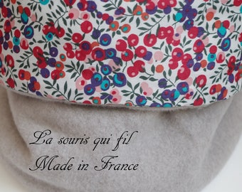snood, Choker, thick, warm, fleece neck warmer, organic cotton, liberty of london, liberty, woman, the mouse who thread