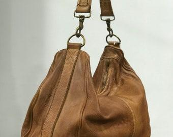 Soft leather of excellent quality Italian leather in borse bag shovel effeto vintage whiskey in capo produtto artigianale