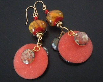 Earrings: Warm colors for summer