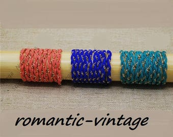 50cm of braided suede and gold chain colors (Royal Blue, turquoise or coral)