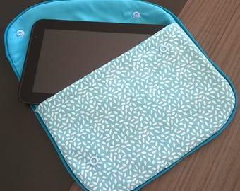 Blue cotton Tablet case