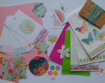 Set of 50 surprises, tropical theme / summer