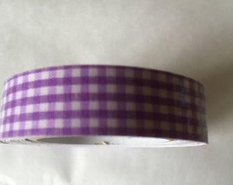 duct tape purple GINGHAM