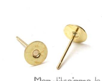 50 PCs (25 pairs) pin BACKINGS gold EARRINGS