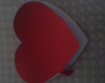 packed in a heart shape lollipop