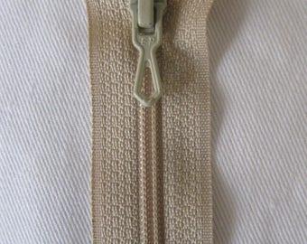 Beige 20 cm not separable zipper