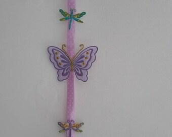 Decorative wall Garland of butterflies and dragonflies