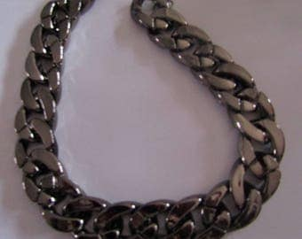 Necklace large dark silver chain 36cm