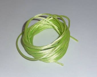 Lime green light green synthetic nylon cord