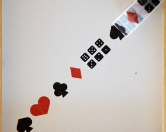 """Masking tape - pattern """"Games"""" - 1.5 cm x 10 m"""