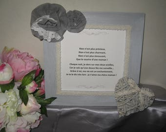 Free shipping! distressed gray frame mother's day