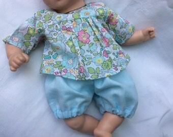 Bloomer blue linen doll 30 cm