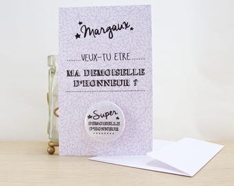 Bridesmaid card / request