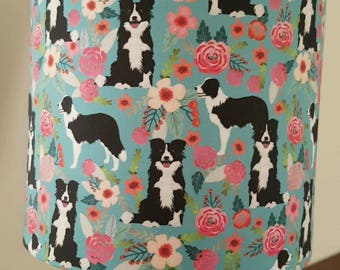20cm border collie lampshade