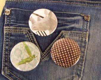 Set of 3 badges / vintage style