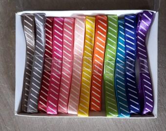 X 12 colorful satin ribbon