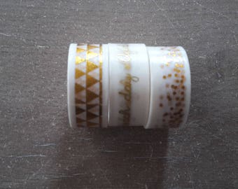 MasKing tape white and gold