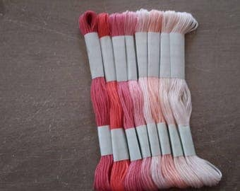 Pink embroidery thread