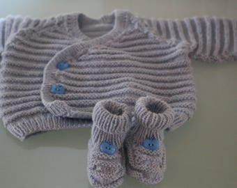 top and 3 months booties baby gift