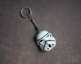 Stormtrooper, Star Wars white resin keychain