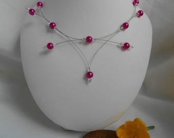 PERLICA fuchsia Pearl Necklace