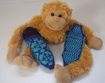 Shoes Navy Blue and turquoise jacquard child