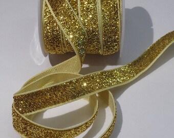 Golden 1 meter polyester Ribbon