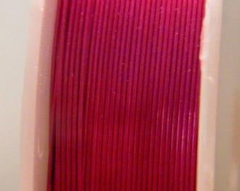 spool of 12 M Fil 0.4 mm - dark fuchsia - for DIY jewelry - F19