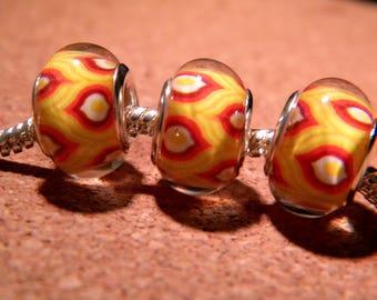 2 beads charm European - style 14 mm - 11 D104 pandor@-