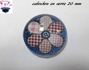 1 cabochon clear 20mm jeans heart theme