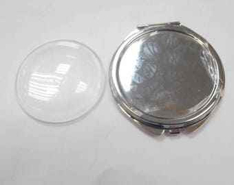 1 mirror with magnifying glass grossisante on one side for 60 cm without the glass cabochon cabochon