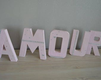 Letters, nursery name decor, wedding, christening...