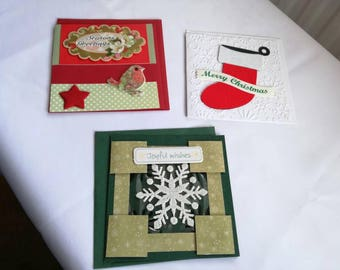 Pack of 3 4x4 Christmas cards
