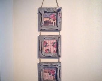 """Trio wall frames Driftwood """"triptych"""" n ° 2"""