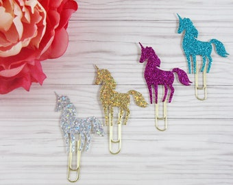 Unicorn Planner Clips, Unicorn Planner paper Clips, Journal Clips, Unicorn Paper Clips Unicorn , Unicorn Planner accessories