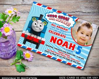 Thomas The Train Invitation,Thomas The Train Birthday,Thomas The Train Birthday Invitation,Thomas The Train Party,Thomas The Train-A338