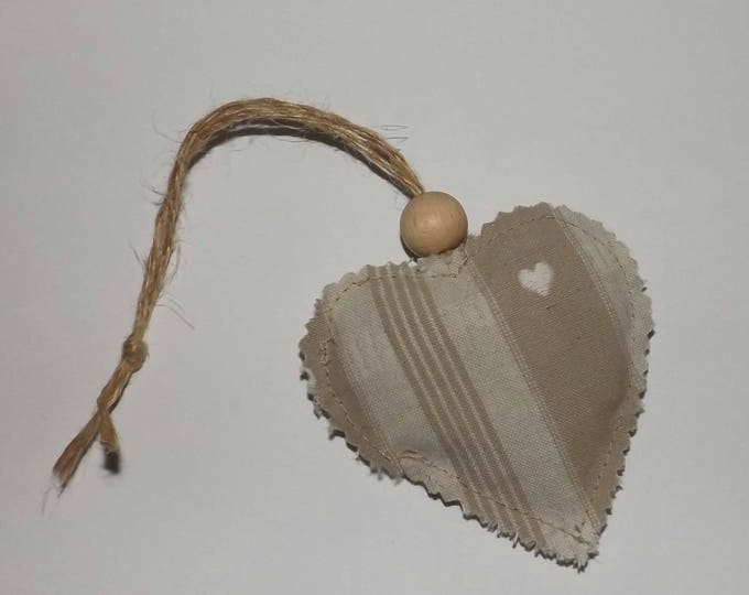 Heart made of linen, lavender, fragrance, ornaments, wedding decoration, wedding decoration, romantic, country wedding