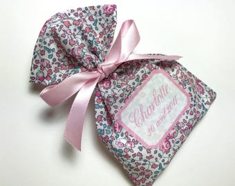 10 bags of sweets customized Liberty Eloise pink