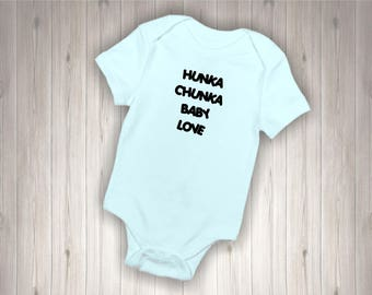 Baby Bodysuit with Hunka Chunka Baby Love Design