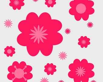 creation of printed fabrics flower motifs