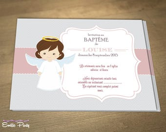 Announcements baptism themed: little angel