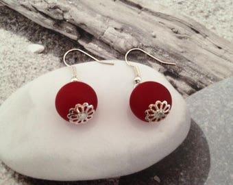 Balls Siam earrings