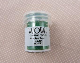 powder embossing, metallic Green